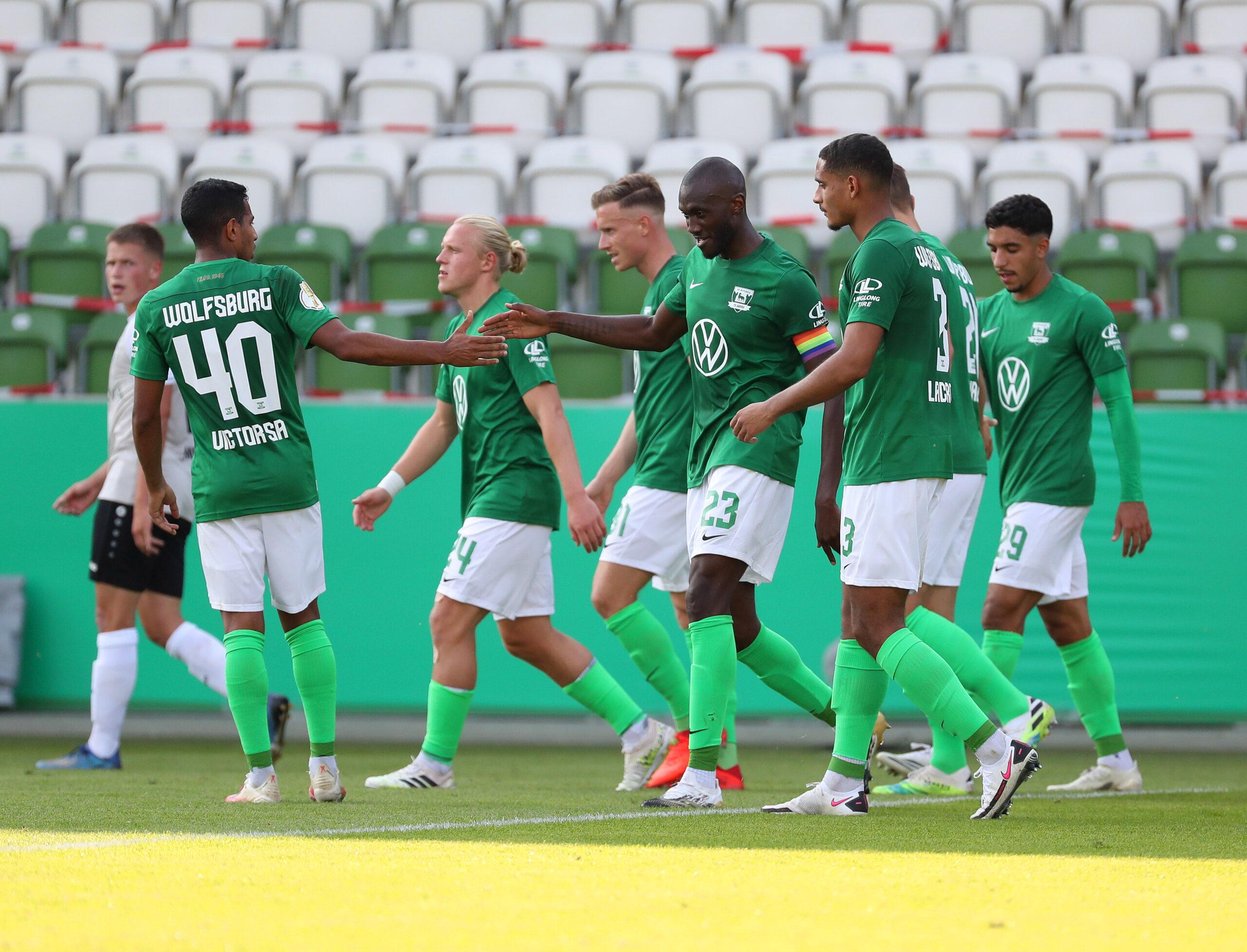 El Wolfsburg (Bundesliga) en su victoría la semana pasada frente al Union Fürstenwalde