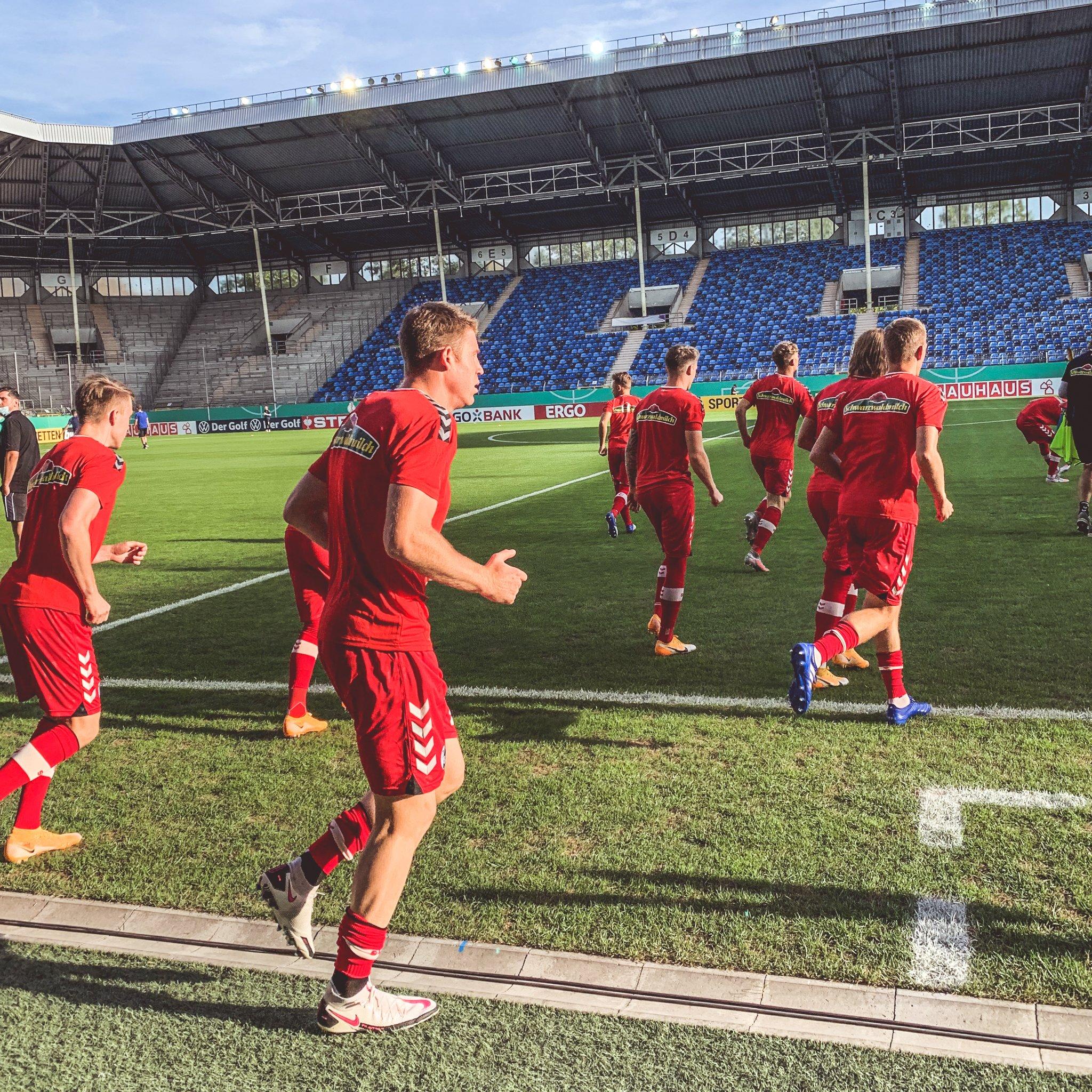 El Freiburg (Bundesliga) la pasada semana en el partido de DFB-Pokal