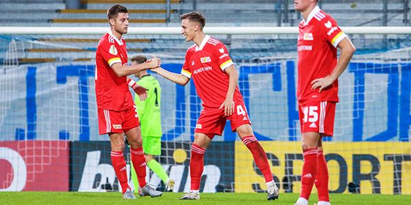 El Union Berlin (Bundesliga) en el partido de DFB-Pokal de la pasada semana