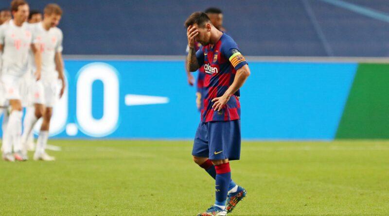FC Barcelona perdiendo 2-8 frente al Bayern