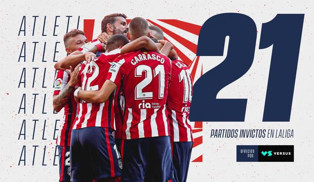 Atlético de Madrid: 21 partidos seguidos invicto